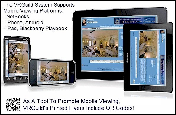 VRGuild Supports Mobile Viewing, NetBooks, iPhone, Android, iPad, Blackberry